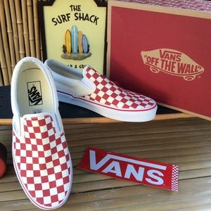Vans Checkerboard Slip-On Canvas Sneakers New!